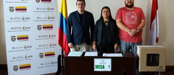 Consulado de Colombia en Jakarta inició el último día  de la Consulta Anticorrupción 2018